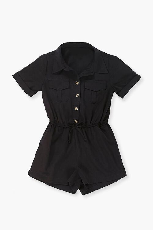 Buttoned Collared Romper, image 1