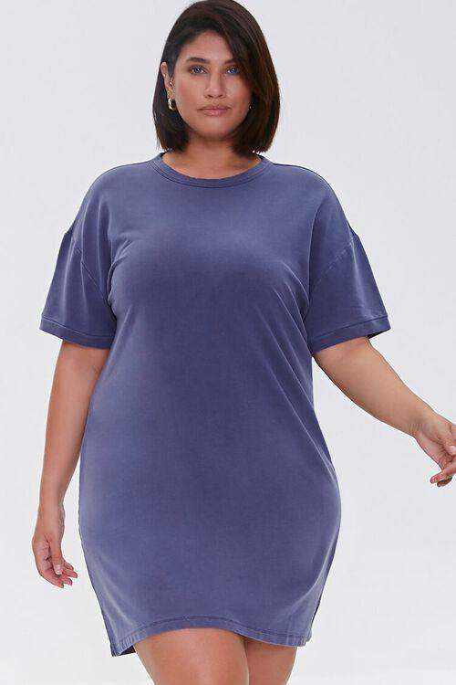NAVY Plus Size Mini T-Shirt Dress, image 1