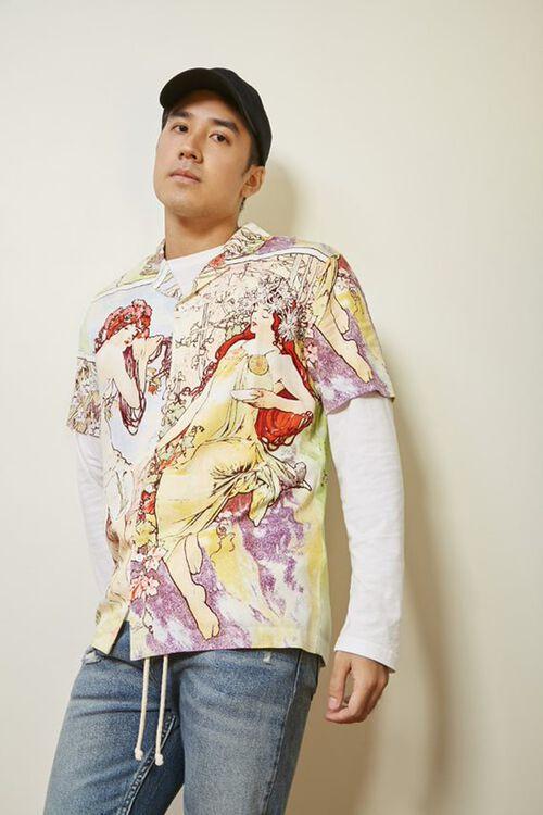 Alphonse Mucha Print Shirt, image 1