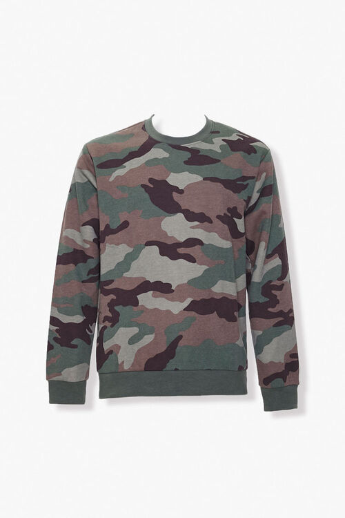 Camo Print Knit Sweater, image 1