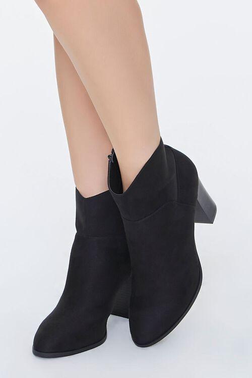 Faux Suede Block Heel Booties, image 1