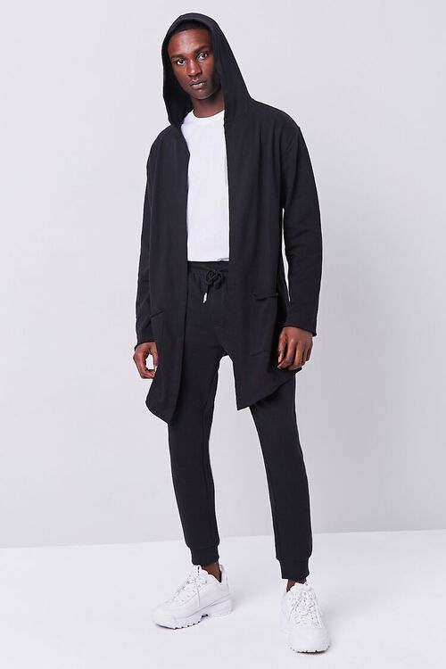 BLACK Longline Hooded Cardigan, image 4