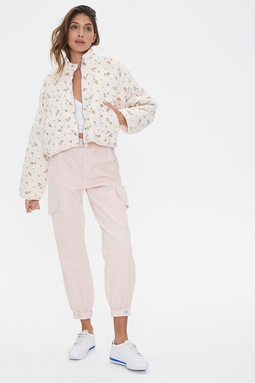Floral Print Quilted Jacket, image 4