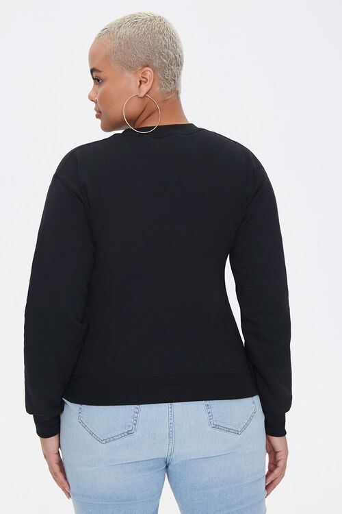 Plus Size Daffy Duck Graphic Pullover, image 3