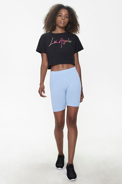 LIGHT BLUE High-Rise Biker Shorts, image 5