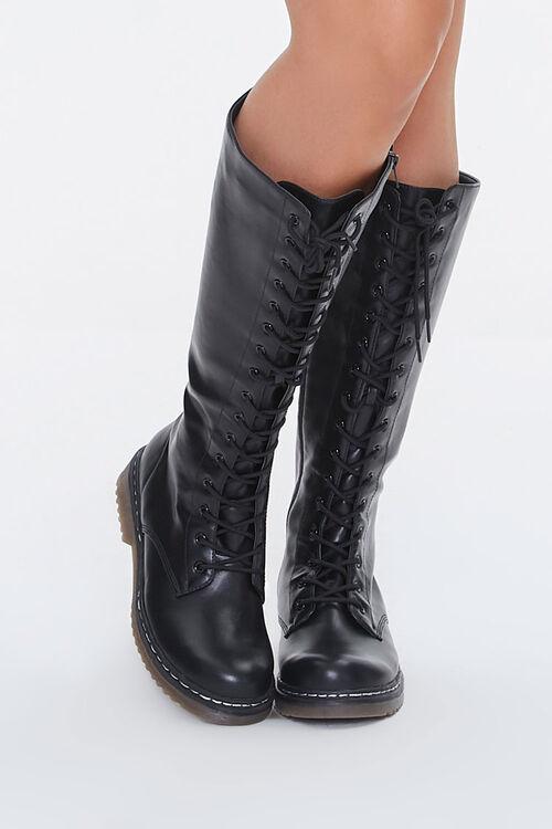 Lace-Up Combat Boots, image 4