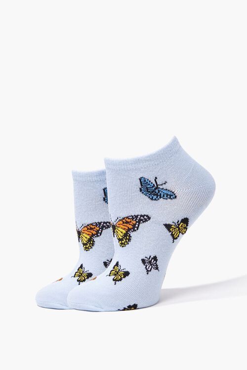 Butterfly Graphic Ankle Socks, image 1