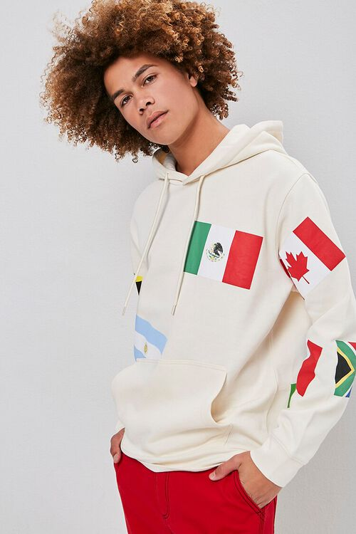 World Flags Graphic Hoodie, image 1