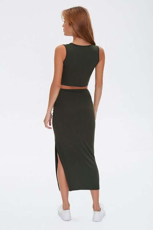 Crop Top & Midi Skirt Set, image 4