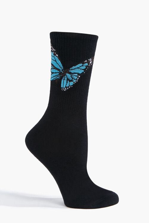 Butterfly Graphic Crew Socks, image 2