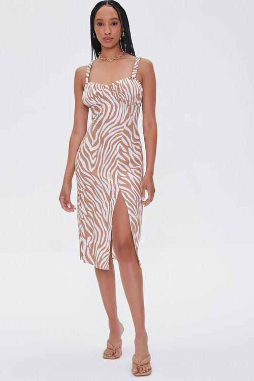 Tiger Striped Slit Dress, image 4