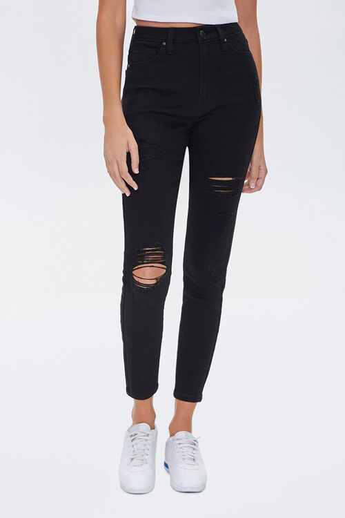 Distressed Curvy Fit Jeans, image 2