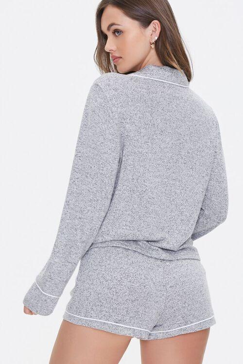 Marled Knit Pajama Set, image 3