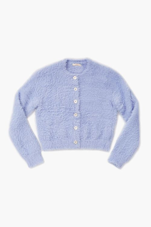 Girls Fuzzy Cardigan Sweater (Kids), image 1