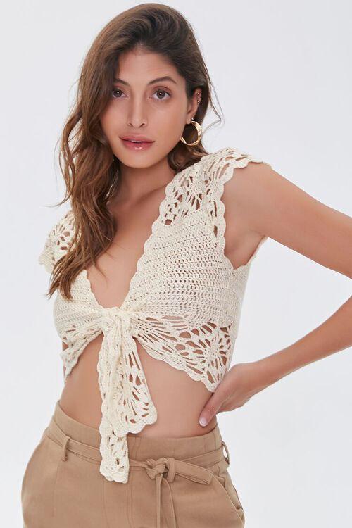 Crochet Tie-Front Top, image 5