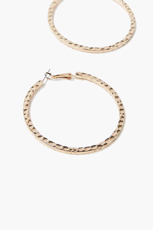 Hammered Hoop Earrings, image 2