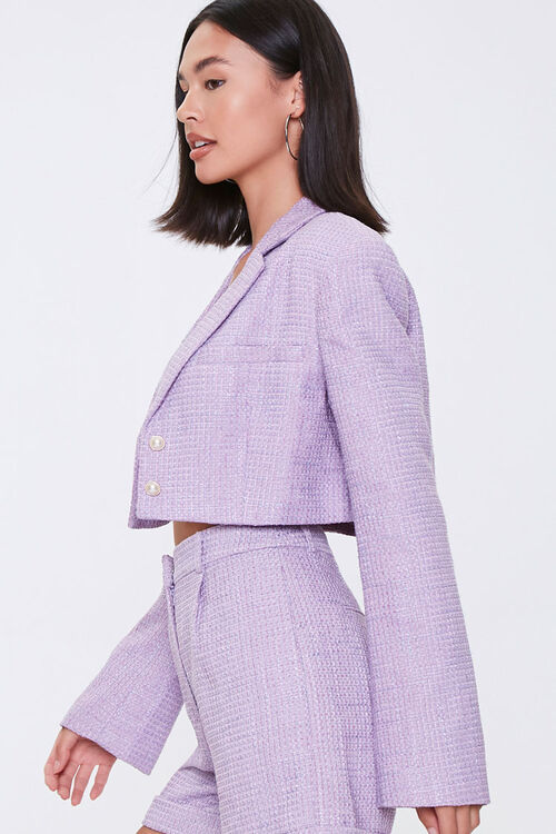 Cropped Tweed Faux Pearl Blazer, image 2