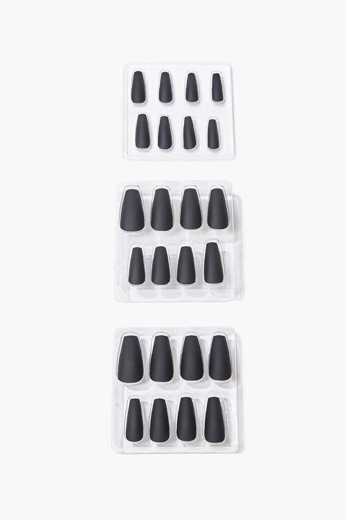 BLACK Coffin Press-On Nails, image 1