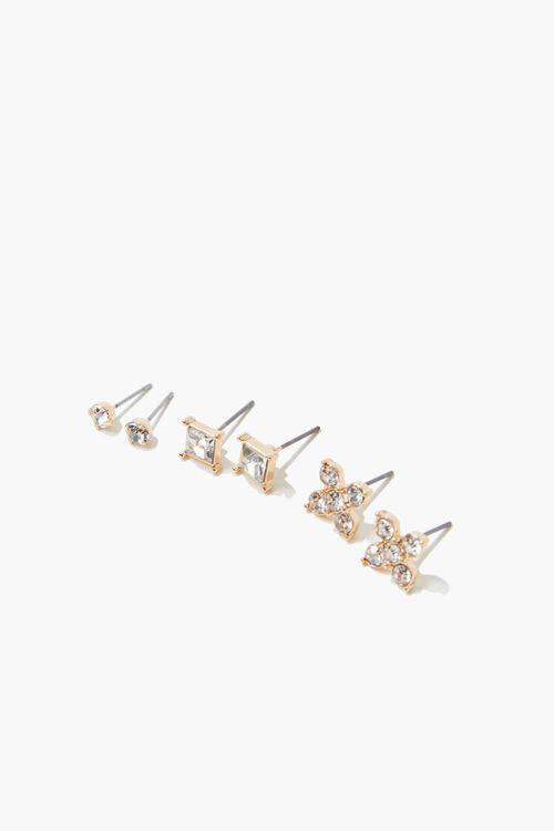 Faux Gem Stud Earring Set, image 2