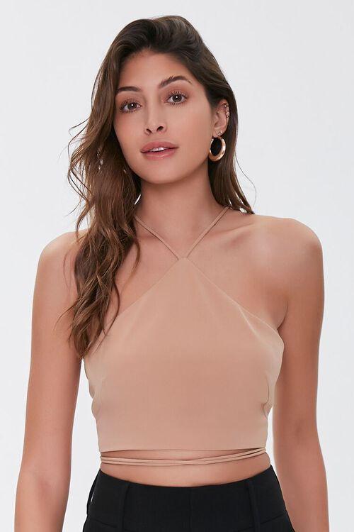 Wraparound Lace-Up Top, image 1
