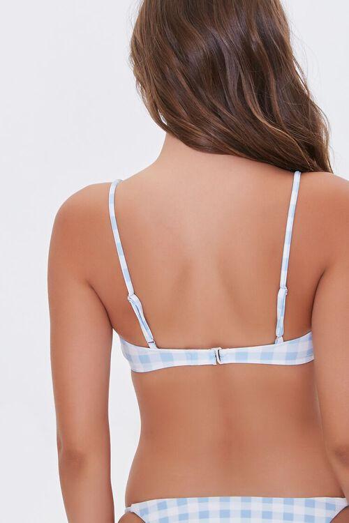 Gingham Ruffled Bralette Bikini Top, image 4