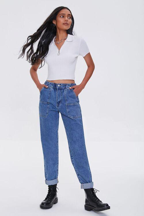 Cuffed Mom Jeans, image 1