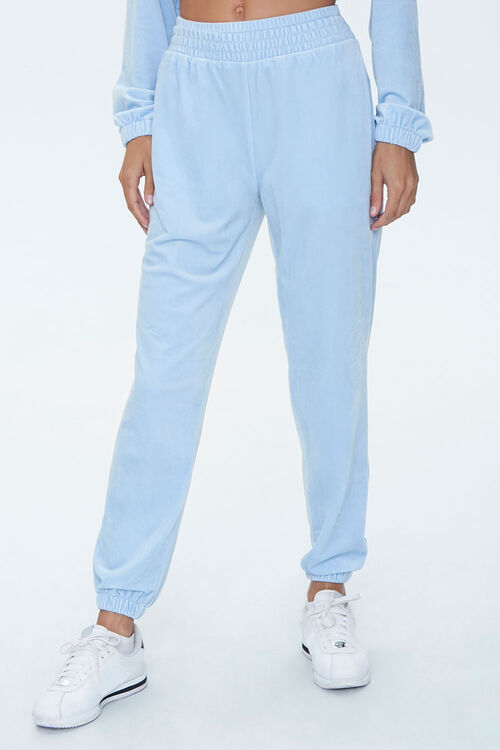 Velour High-Rise Joggers, image 2