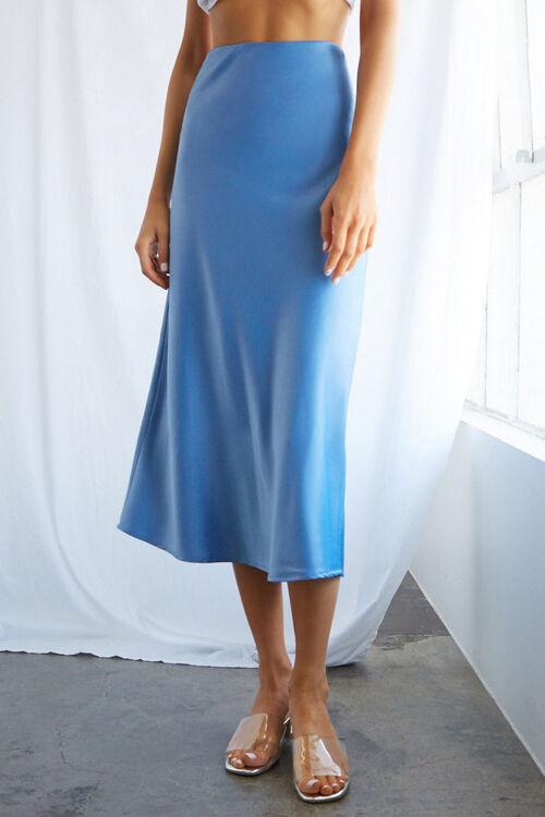 Satin Midi Skirt, image 3
