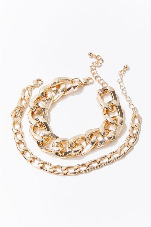Chunky Chain Bracelet Set, image 1