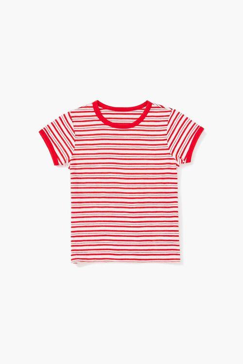 Girls Striped Ringer Tee (Kids), image 1
