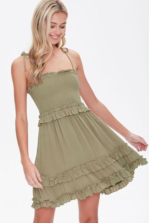 Ruffle-Trim Cami Dress, image 1