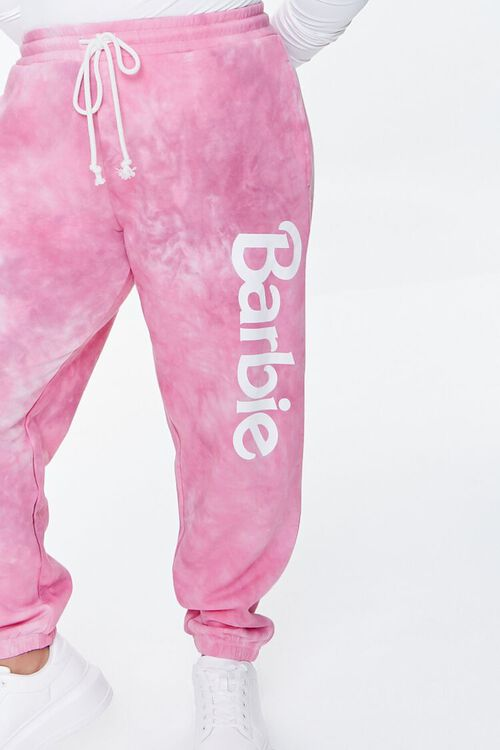 PINK/MULTI Plus Size Tie-Dye Barbie™ Joggers, image 5