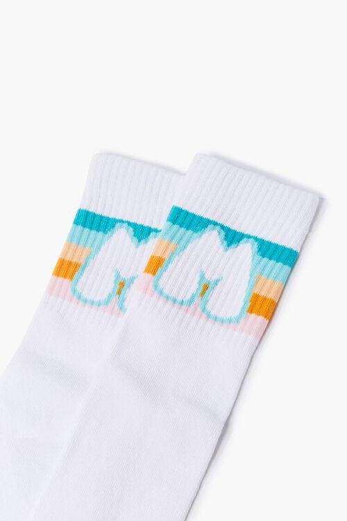 WHITE/MULTI Moxi Skates Crew Socks, image 3