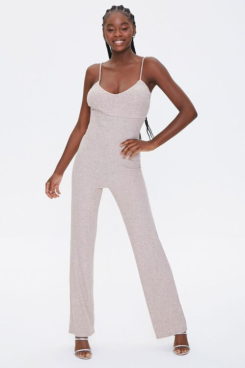 OATMEAL Ribbed Cami Jumpsuit, image 4