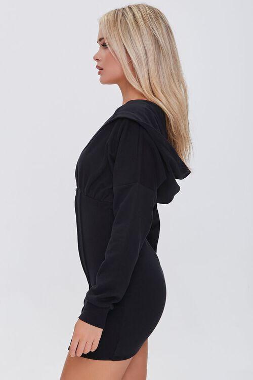 BLACK Zip-Up Hoodie Dress, image 2
