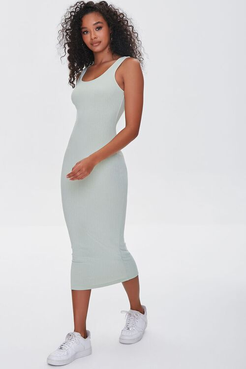 SAGE Ribbed Bodycon Midi Dress, image 1
