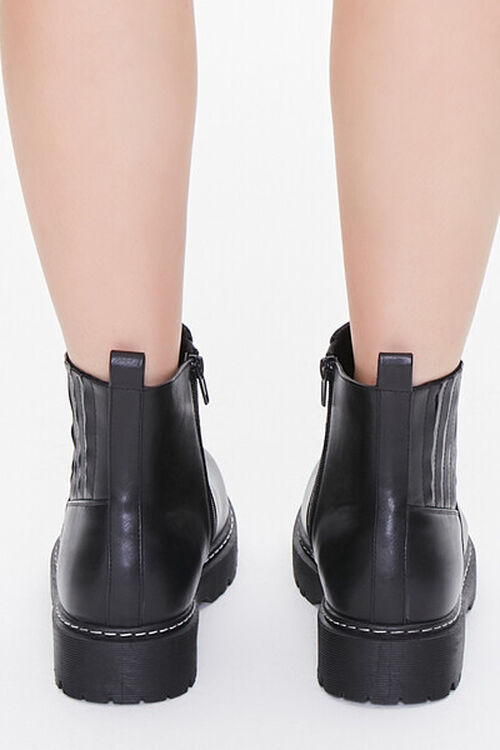 Faux Leather Chelsea Boots, image 3