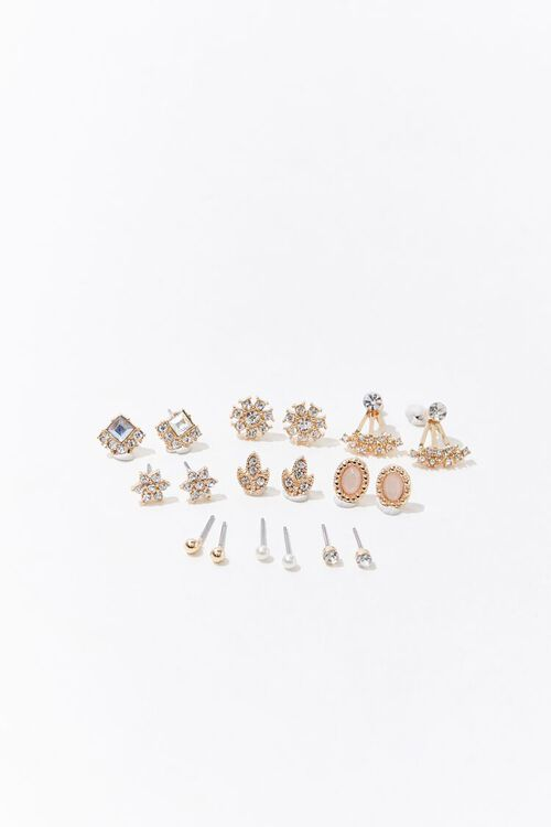 Faux Gem Variety Stud Earring Set, image 1