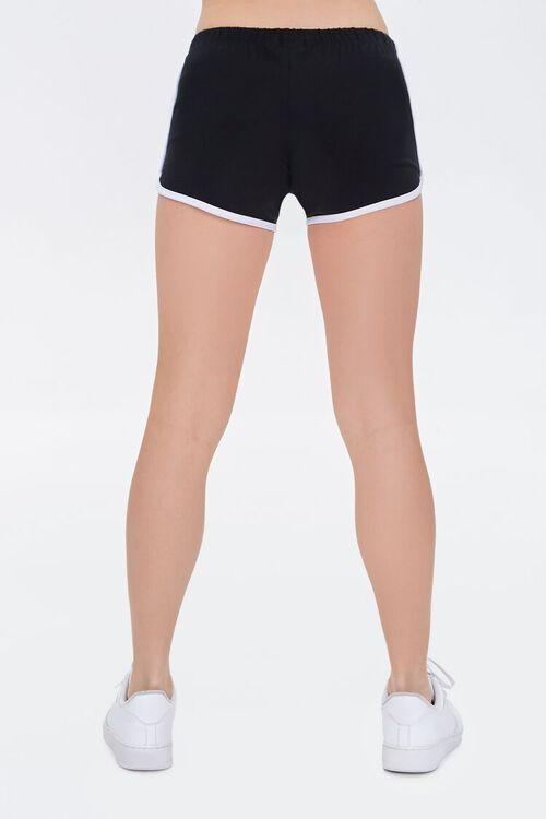 BLACK/CREAM Ringer Dolphin Shorts, image 4