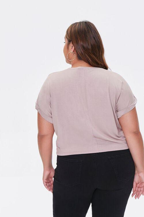 Plus Size Cuffed Short-Sleeve Tee, image 3