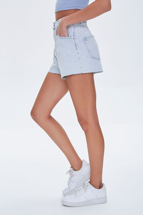 LIGHT DENIM Raw-Cut Denim Shorts, image 3