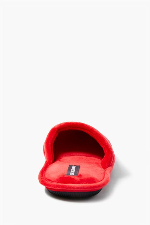 RED/ORANGE Men Worldwide Embroidered Graphic Slippers, image 3