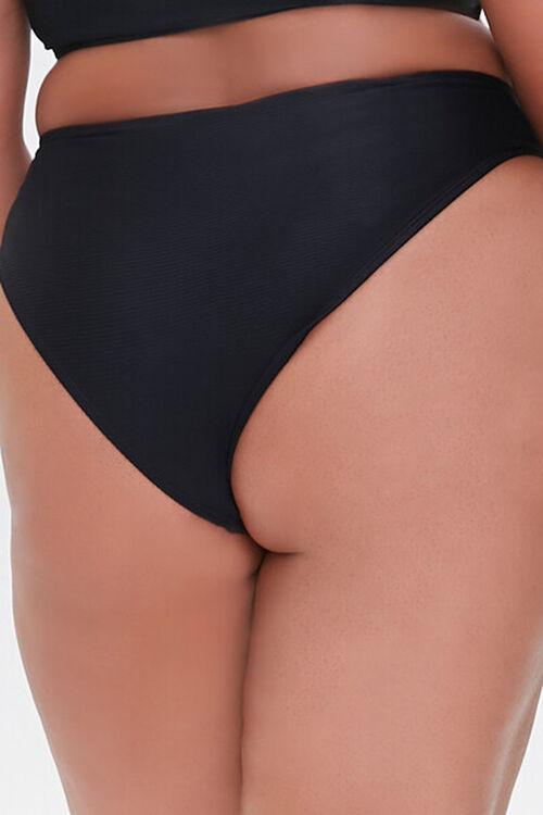 BLACK Plus Size Cheeky Bikini Bottoms, image 4