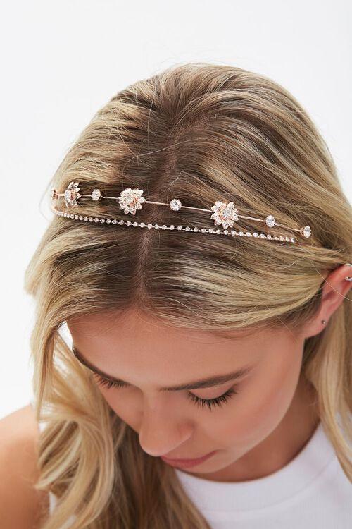 Floral Rhinestone Headband Set, image 2