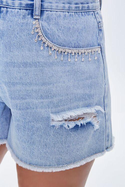 Plus Size Rhinestone-Trim Denim Shorts, image 5