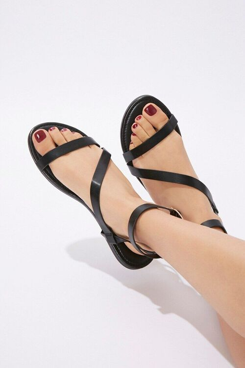 Caged Flat Sandals, image 1