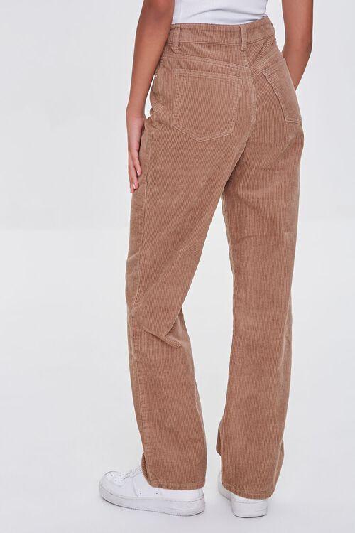 TAN Ribbed Relaxed Pants, image 4