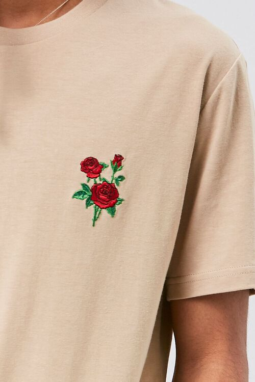 Rose Embroidered Graphic Tee, image 5