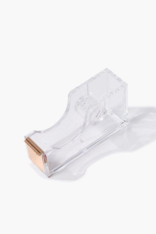 GOLD/CLEAR Transparent Tape Holder Dispenser, image 2