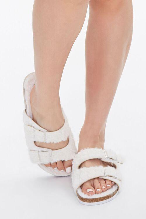 Buckled Faux Fur Sandals, image 4